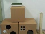 Дом для кошки из коробок