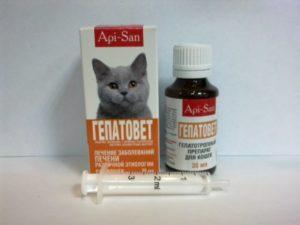 Препарат Гепатовет для кошек